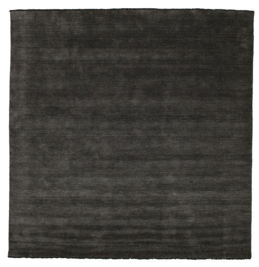 Handloom Fringes - Schwarz/Grau Teppich  300X300 Moderner Quadratisch Schwartz Großer (Wolle, Indien)