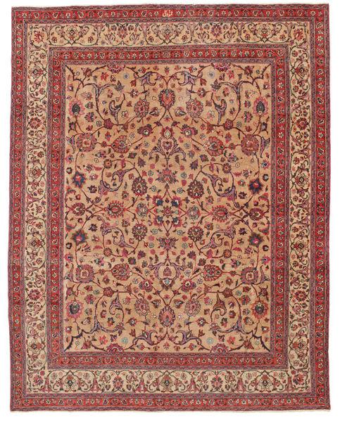 Maschad Patina Signatur: Amoghli Teppich  287X370 Echter Orientalischer Handgeknüpfter Rost/Rot/Dunkelrot Großer (Wolle, Persien/Iran)