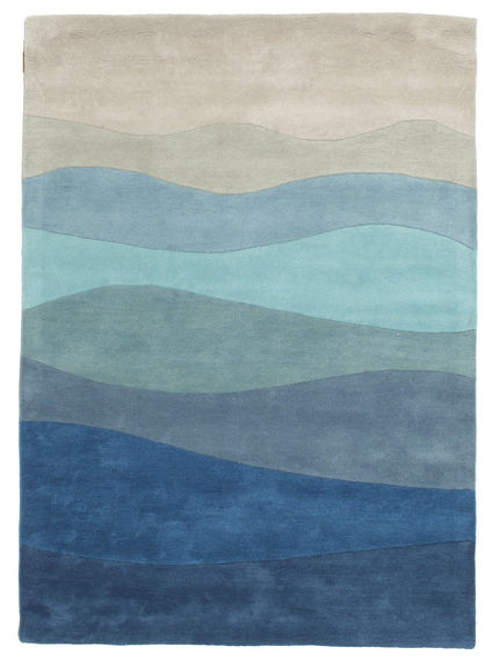 Feeling Handtufted - Blau Teppich  140X200 Moderner Dunkelblau/Hellblau (Wolle, Indien)