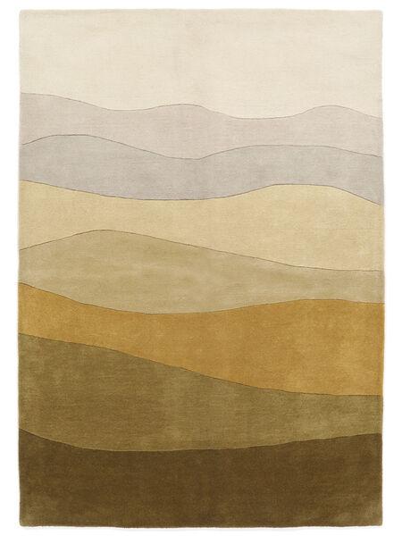 Feeling Handtufted - Braun Teppich  140X200 Moderner Olivgrün/Dunkel Beige (Wolle, Indien)