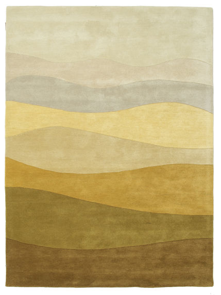Feeling Handtufted - Braun Teppich  160X230 Moderner Olivgrün/Dunkel Beige (Wolle, Indien)