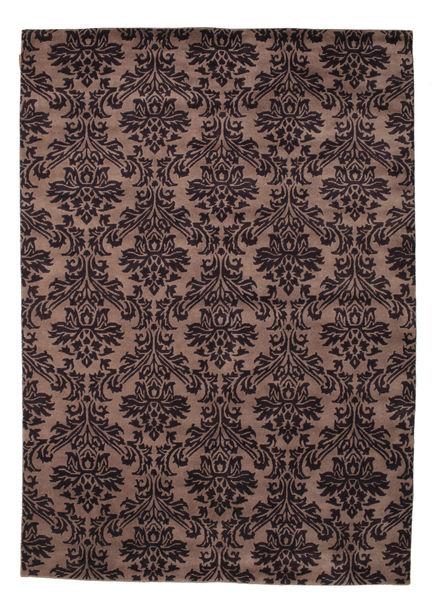 Himalaya Teppich  170X240 Echter Moderner Handgeknüpfter Schwartz/Dunkelbraun (Wolle, Indien)