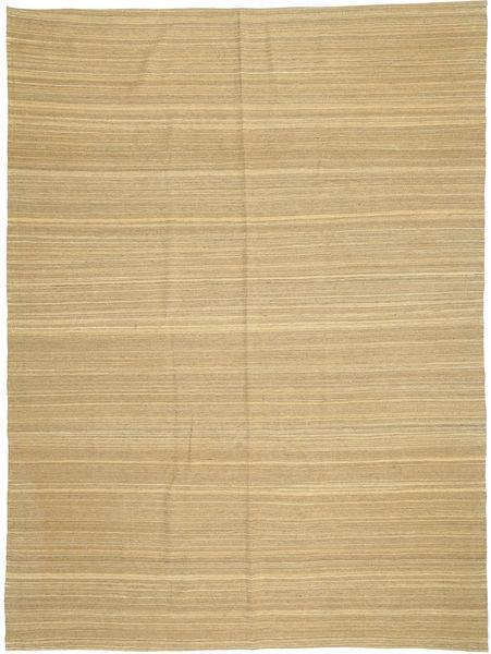 Kelim Modern Teppich  210X279 Echter Moderner Handgewebter Dunkel Beige/Gelb (Wolle, Afghanistan)
