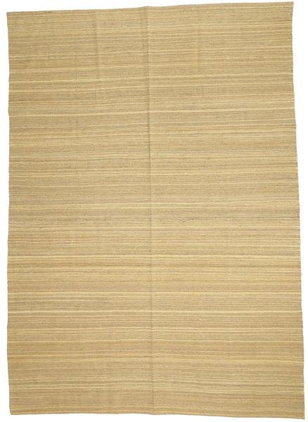 Kelim Modern Teppich  204X284 Echter Moderner Handgewebter Dunkel Beige/Gelb (Wolle, Afghanistan)