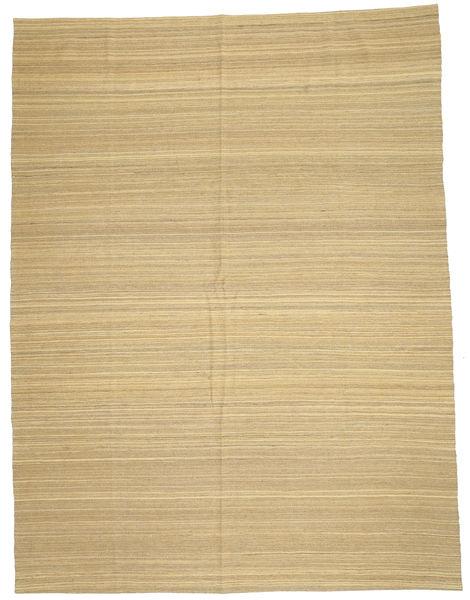 Kelim Modern Teppich  212X280 Echter Moderner Handgewebter Dunkel Beige/Beige (Wolle, Afghanistan)