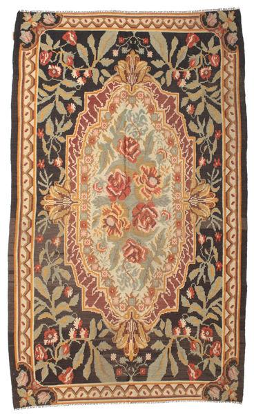 Kelim Rosen Moldavia Teppich  178X295 Echter Orientalischer Handgewebter Braun/Dunkel Beige/Hellbraun (Wolle, Moldawien)