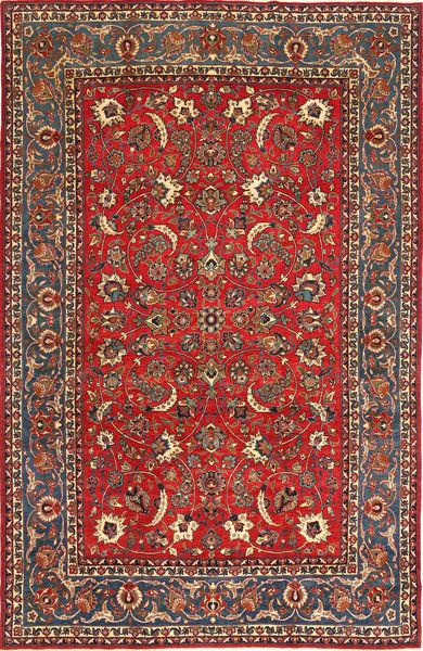 Najafabad Patina Teppich  245X375 Echter Orientalischer Handgeknüpfter Rost/Rot/Schwartz (Wolle, Persien/Iran)