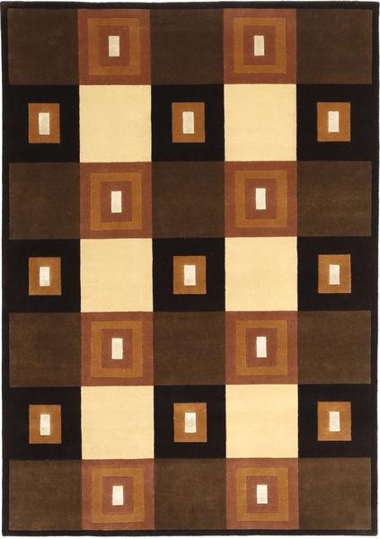 Himalaya Teppich  140X203 Echter Moderner Handgeknüpfter Dunkelbraun/Braun (Wolle, Indien)