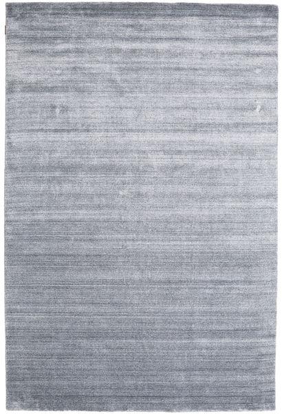 Bambus Seide Loom - Denim Blau Teppich  200X300 Moderner Hellgrau/Hellblau ( Indien)