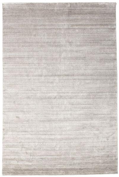 Bambus Seide Loom - Warm Grau Teppich  200X300 Moderner Hellgrau ( Indien)