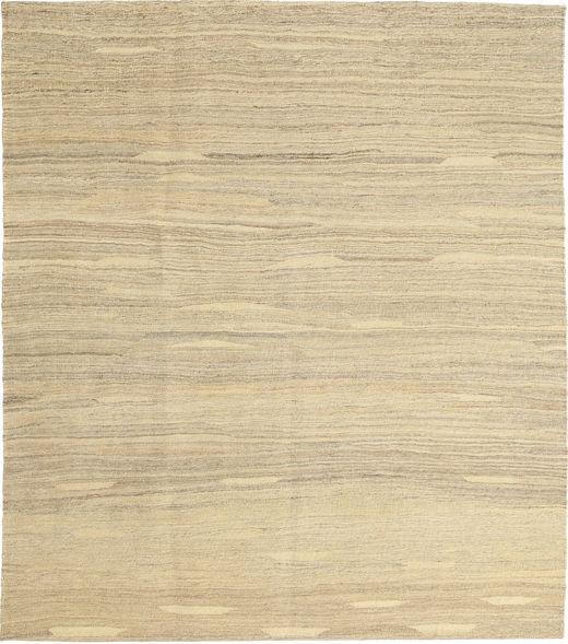 Kelim Modern Teppich  157X183 Echter Moderner Handgewebter Gelb/Dunkel Beige (Wolle, Persien/Iran)