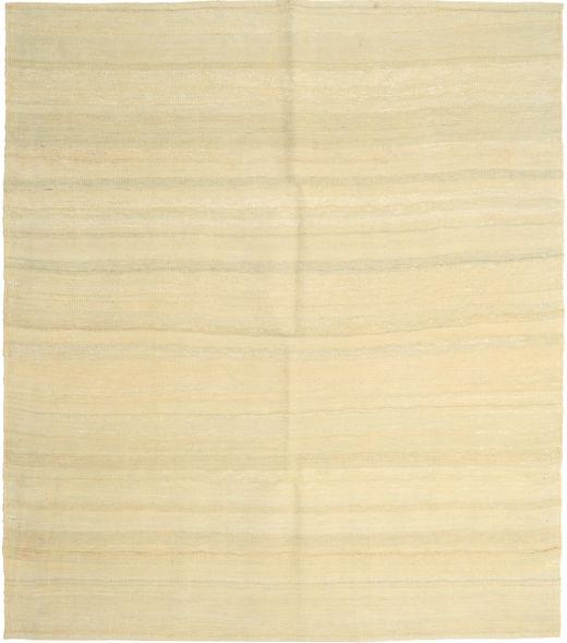 Kelim Modern Teppich  161X186 Echter Moderner Handgewebter Beige/Gelb (Wolle, Persien/Iran)