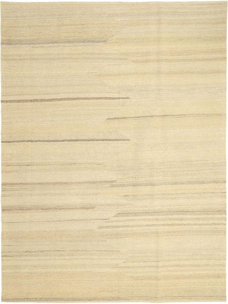 Kelim Modern Teppich  176X242 Echter Moderner Handgewebter Gelb/Beige (Wolle, Persien/Iran)