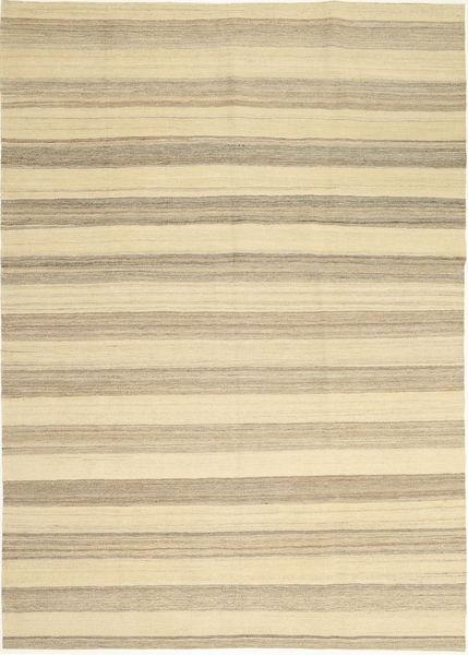 Kelim Modern Teppich  174X246 Echter Moderner Handgewebter Gelb/Hellgrau (Wolle, Persien/Iran)
