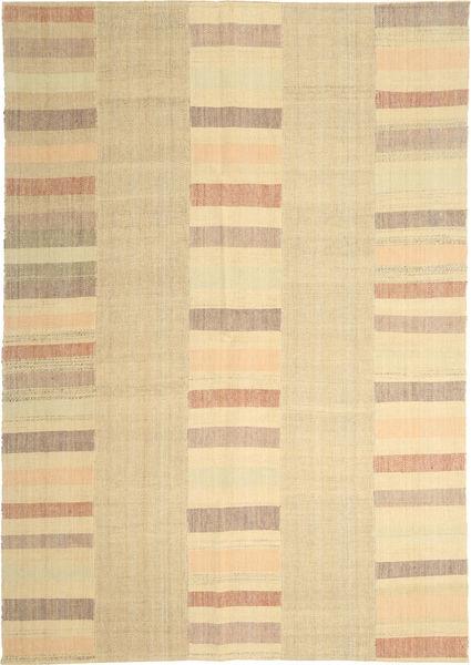 Kelim Modern Teppich  208X304 Echter Moderner Handgewebter Beige/Hellbraun (Wolle, Persien/Iran)
