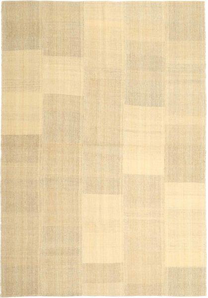 Kelim Modern Teppich  203X290 Echter Moderner Handgewebter Beige/Hellbraun (Wolle, Persien/Iran)