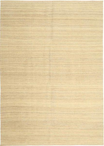 Kelim Modern Teppich  203X290 Echter Moderner Handgewebter Beige/Gelb (Wolle, Persien/Iran)