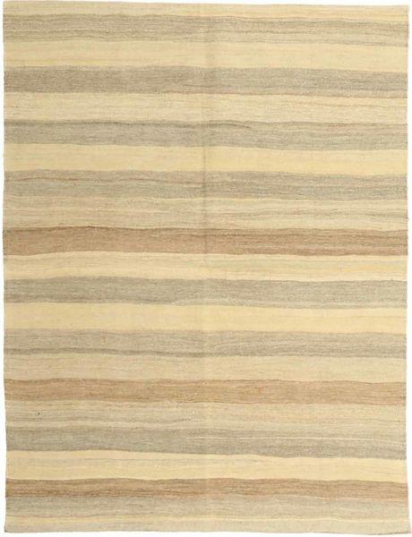 Kelim Modern Teppich  152X198 Echter Moderner Handgewebter Gelb/Beige (Wolle, Persien/Iran)