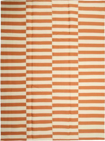 Kelim Modern Teppich  232X315 Echter Moderner Handgewebter Beige/Orange (Wolle, Persien/Iran)