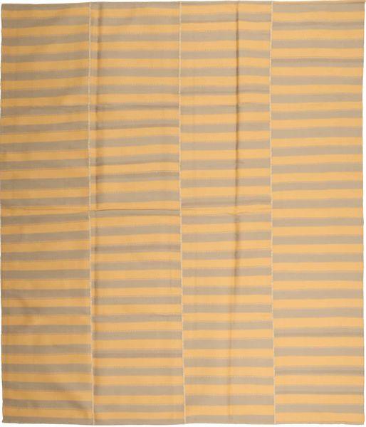 Kelim Modern Teppich  230X270 Echter Moderner Handgewebter Dunkel Beige/Hellbraun (Wolle, Persien/Iran)