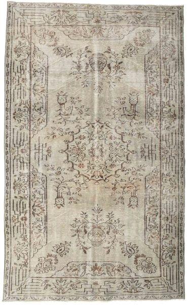 Colored Vintage Teppich  164X274 Echter Moderner Handgeknüpfter Hellgrau (Wolle, Türkei)