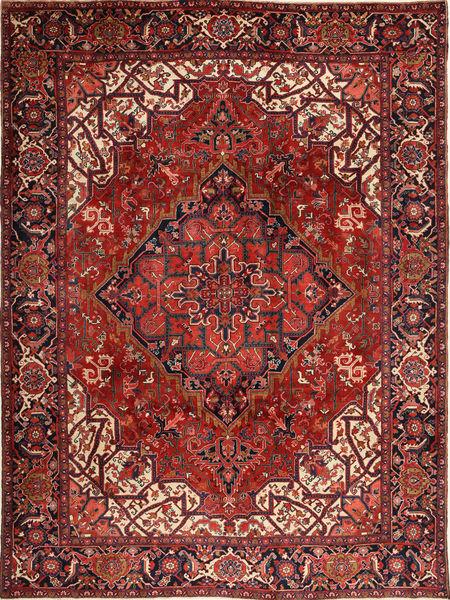 Heriz Teppich  273X370 Echter Orientalischer Handgeknüpfter Dunkelrot/Schwartz Großer (Wolle, Persien/Iran)