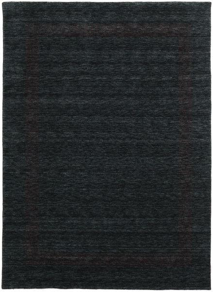Handloom Gabba - Schwarz/Grau Teppich  210X290 Moderner Schwartz (Wolle, Indien)