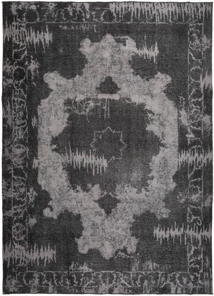 Colored Vintage Teppich  248X343 Echter Moderner Handgeknüpfter Dunkelgrau/Schwartz/Dunkelbraun (Wolle, Persien/Iran)