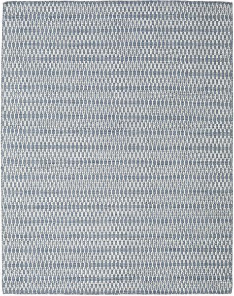 Kelim Long Stitch - Blau Teppich  190X240 Echter Moderner Handgewebter Hellgrau/Hellblau (Wolle, Indien)