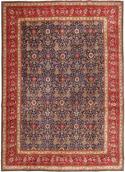 Täbriz Patina Teppich  290X397 Echter Orientalischer Handgeknüpfter Dunkelrot/Dunkellila Großer (Wolle, Persien/Iran)