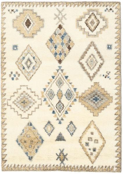 Berber Indisch - Naturweiß/Beige Teppich  140X200 Echter Moderner Handgeknüpfter Beige/Weiß/Creme (Wolle, Indien)