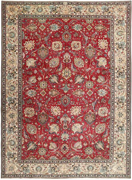 Täbriz Patina Teppich  284X390 Echter Orientalischer Handgeknüpfter Dunkelbraun/Hellgrau Großer (Wolle, Persien/Iran)