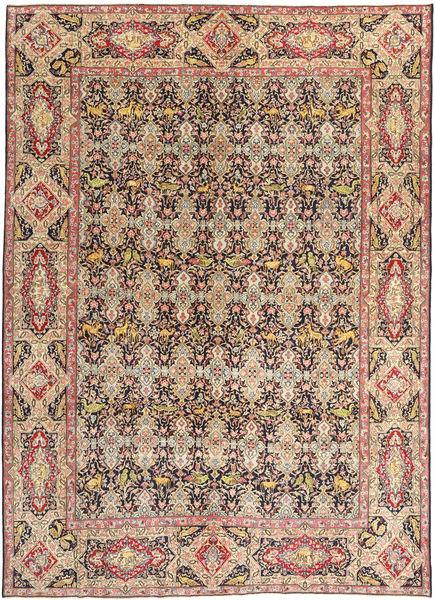Täbriz Patina Teppich  294X397 Echter Orientalischer Handgeknüpfter Dunkelbraun/Dunkelrot Großer (Wolle, Persien/Iran)