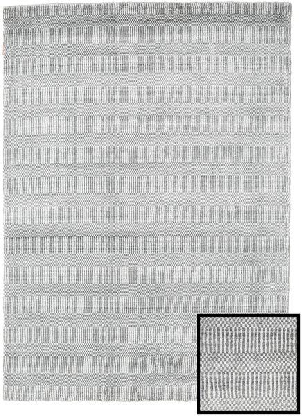 Bambus Grass - Grau Teppich  140X200 Moderner Hellgrau/Weiß/Creme (Wolle/Bambus-Seide, Türkei)
