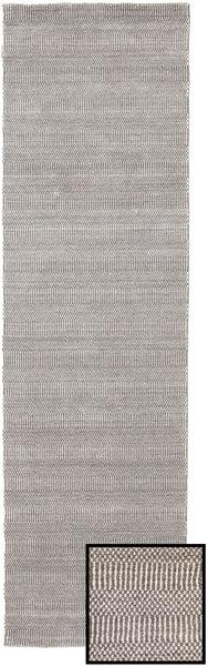 Bambus Grass - Beige Teppich  80X290 Moderner Läufer Hellgrau (Wolle/Bambus-Seide, Türkei)