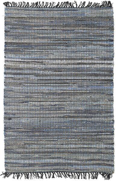Sonja Mix - Denim/Jute Teppich  100X160 Echter Moderner Handgewebter Dunkelgrau/Schwartz (Jute-Teppich Indien)
