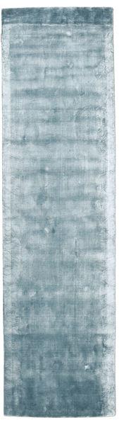 Broadway - Eisblau Teppich  80X300 Moderner Läufer Hellblau ( Indien)