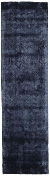 Brooklyn - Nachtblau Teppich  80X300 Moderner Läufer Dunkelblau/Blau ( Indien)