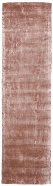 Broadway - Dusty Rose Teppich  80X300 Moderner Läufer Hellrosa/Dunkelrot ( Indien)