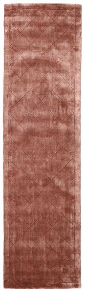 Brooklyn - Pale Copper Teppich  80X300 Moderner Läufer Dunkelrot/Hellbraun ( Indien)