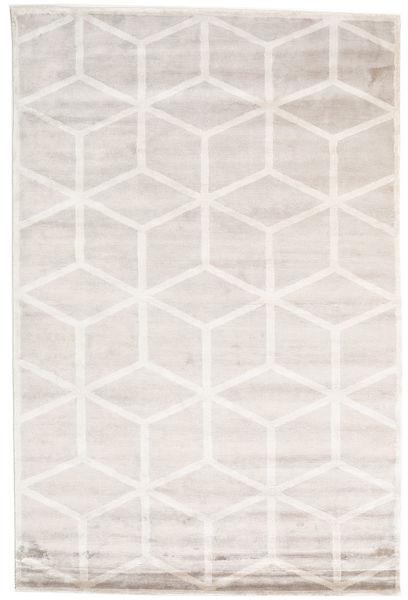 Facets Teppich  200X300 Echter Moderner Handgeknüpfter Weiß/Creme/Hellgrau/Beige ( Indien)