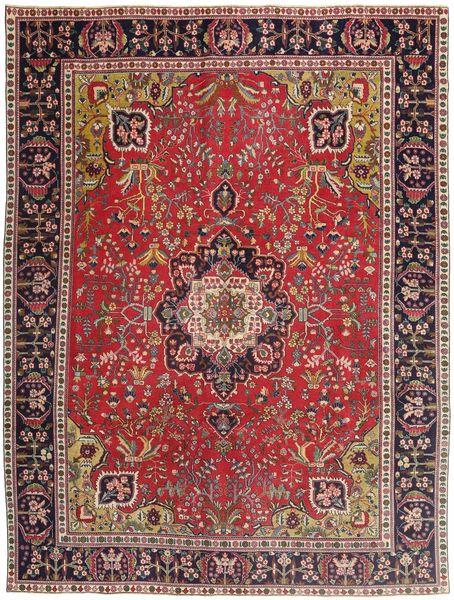 Täbriz Patina Teppich  292X385 Echter Orientalischer Handgeknüpfter Dunkelrot/Dunkelbraun Großer (Wolle, Persien/Iran)