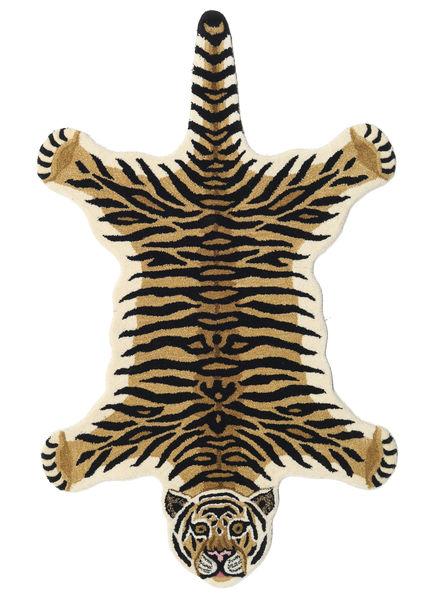 Tiger - Beige Teppich  100X160 Moderner Dunkelblau/Beige (Wolle, Indien)