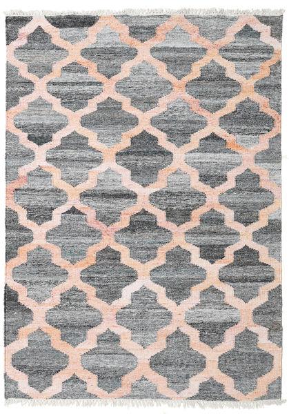 Outdoor-Teppich Kathi - Grau/Coral Teppich  140X200 Echter Moderner Handgewebter Hellgrau/Hellrosa ( Indien)
