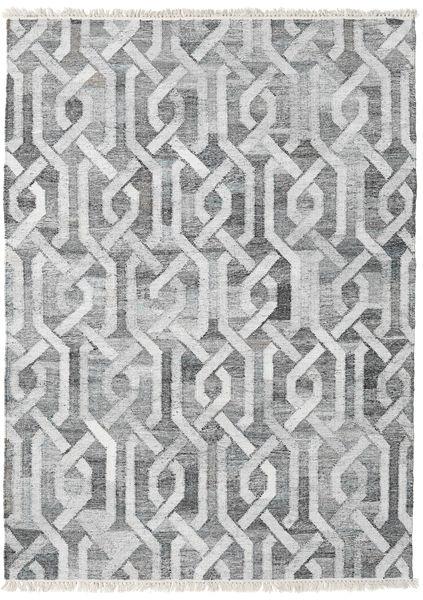Outdoor-Teppich Trinny - Dunkel Grau/Grau Teppich  170X240 Echter Moderner Handgewebter Hellgrau/Weiß/Creme ( Indien)