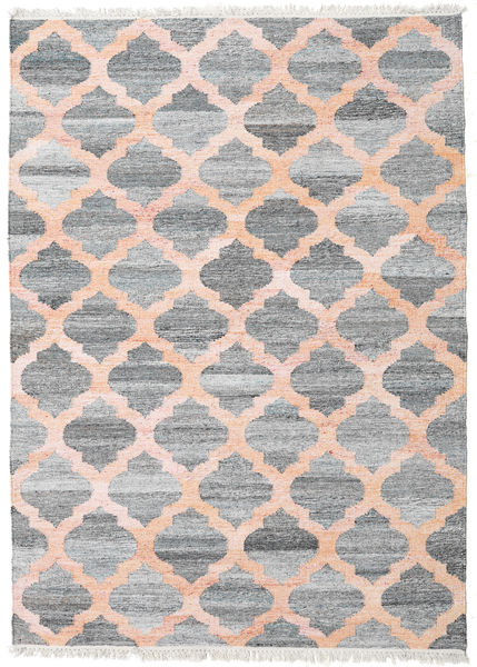 Outdoor-Teppich Kathi - Grau/Coral Teppich  170X240 Echter Moderner Handgewebter Hellgrau/Hellrosa ( Indien)