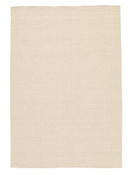 Kelim Loom - Natural Teppich  250X350 Echter Moderner Handgewebter Weiß/Creme/Beige/Hellgrau Großer (Wolle, Indien)