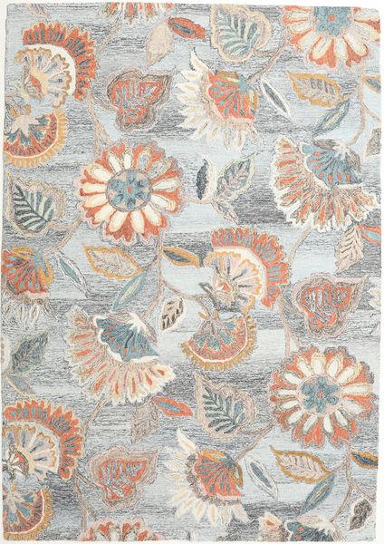 Rusty Flowers - Grau/Rost Teppich  160X230 Moderner Hellgrau/Beige (Wolle, Indien)