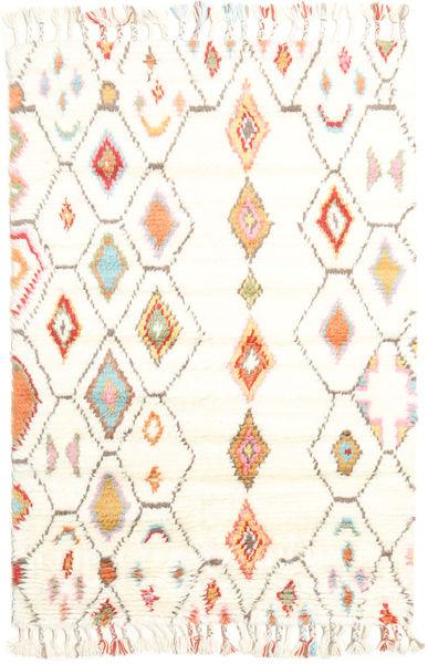 Hulda Teppich  120X180 Echter Moderner Handgeknüpfter Beige/Weiß/Creme (Wolle, Indien)