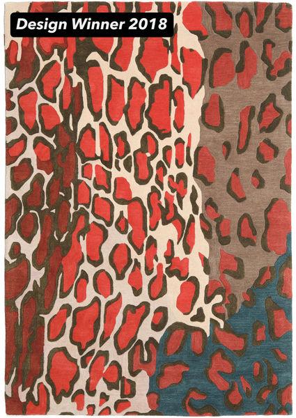 Tilda - 2018 Teppich  160X230 Moderner Dunkelgrau/Rot (Wolle, Indien)